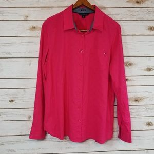 Tommy Hilfiger | Hot Pink Button Up Top